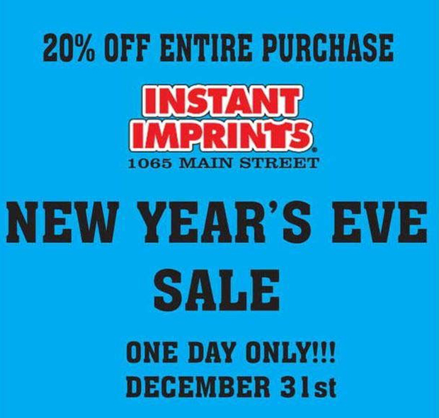 New year's eve sale